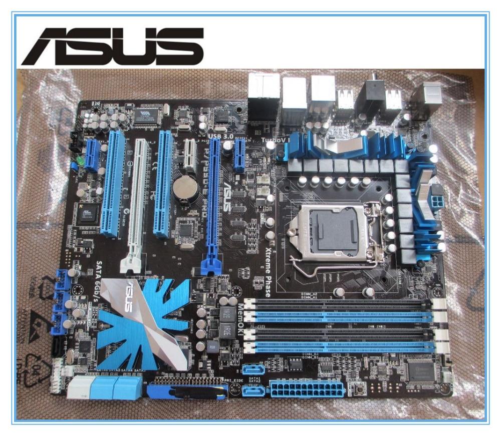 ASUS P7P55D-E Pro  motherboard  DDR3 LGA 1156 USB3.0 ATX boards DVI 16GB P55 Desktop motherborad Free shipping материнская плата asus h81m r c si h81 socket 1150 2xddr3 2xsata3 1xpci e16x 2xusb3 0 d sub dvi vga glan matx