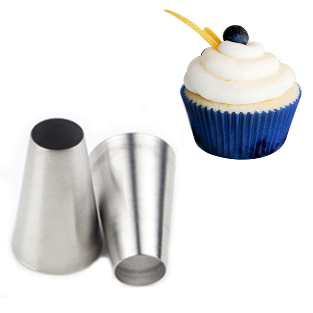 304 Stainless Steel piping nozzles Large Round Metal Flower Cake Cream Decoration Tips Cupcake Cake Cream Decoration