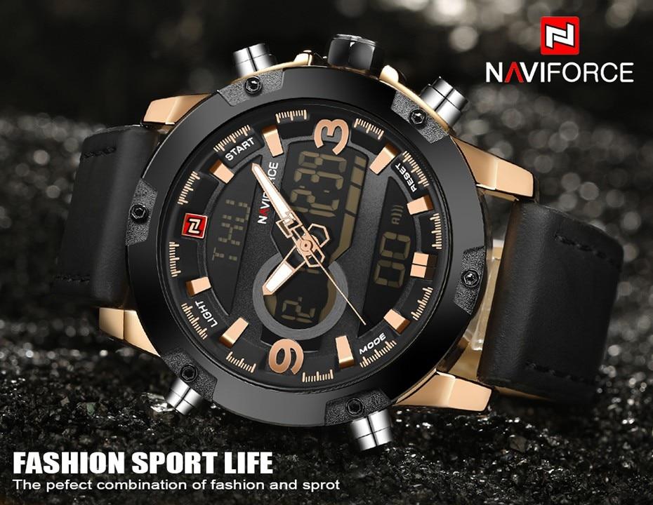 Naviforce Luxury Dual Display Digital watch Military Look