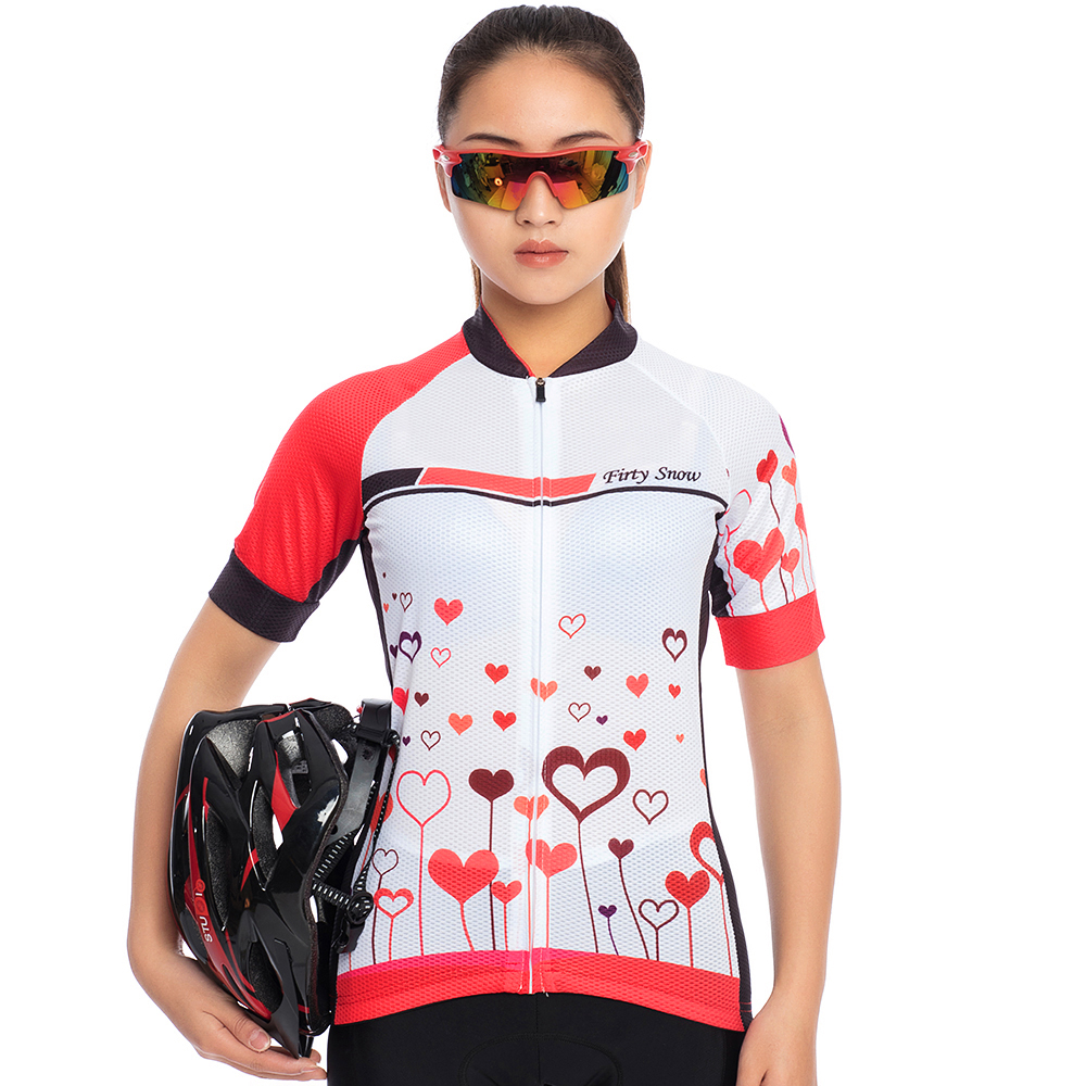 teleyi Short Sleeve Cycling Jersey Set Women Gel Bib Shorts + Shirt Bicycle Clothes Ropa Ciclismo Breathable MTB Bike Clothing