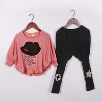 New Children Clothing Sets Spring And Autumn Girls Clothes Sportswear Suit Kids Wear 2pcs Clothing Sets