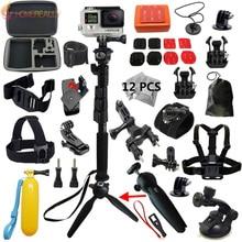 купить YunTeng Monopod Tripod Accessories mount kit For GoPro HERO 5 4 3 4 Session SJCAM SJ4000 Sj5000 xiaoyi 4K M10 Action Cameras по цене 2912.67 рублей