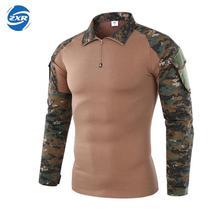 Экипировка камуфляжная армейская походная рубашка мужская Ru солдатская Боевая тактическая рубашка военная сила Мультикам камуфляж с длинным рукавом охотничья рубашка