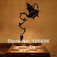 customized fashion Teapot decal wall sticker home decor art islam decoration wallpaper FR36 33*55cm