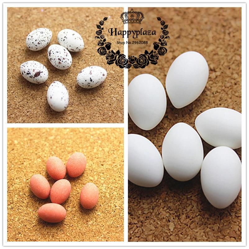 20pcs Cute 3D Resin Simulation Duck Egg/Quail Egg/Egg Miniature Art DIY Craft Decoration,8*11mm
