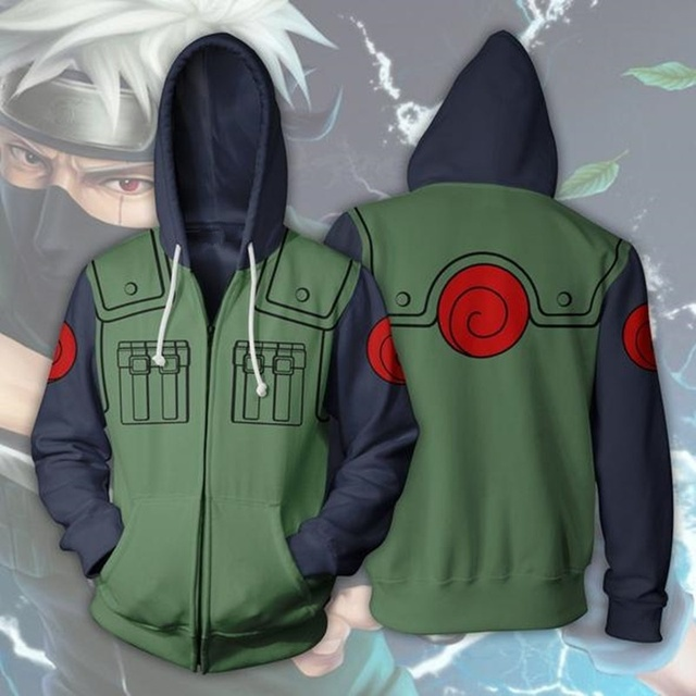 ZOGAA 2018 nowy 3d bluzy z kapturem streetwear Naruto bluza z kapturem mężczyzn Kakashi bluzy mężczyzn Plus rozmiar S 5XL naruto bluza z kapturem