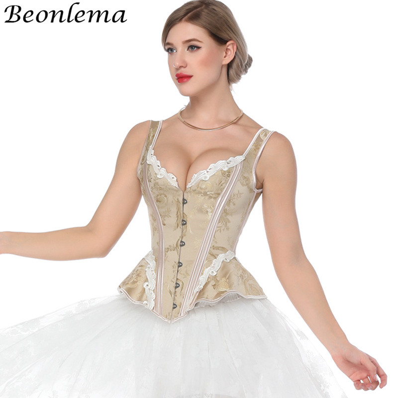 Beonelma Steampunk   Corset   Vintage Back Tight Lacing Up Overbust   Bustiers   and   Corset   Sexy Women Tummy Slimming Sheath