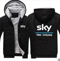 Ciel Hoodies Tour de France Pro Cycle Shirts Veste Épais Polaire Pour Hommes Outwear Coton Manteau d'hiver chaud vêtements