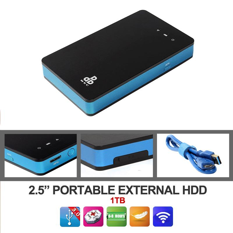 1tb Wireless Wifi Portable External Hard Disk Drive Electronics Storage Devices Mobile Bank Hdd For Laptop Desktop In Enclosure From Computer