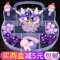 Fashion Children Headwear Bowknot Butterfly Hair Clips Gum Elastic Bands Hair Accessories Barrettes Scrunchies For Cute