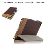 Luxury Magnetic Folio Flip Folding Stand PU Leather Case Cover For Lenovo Tab 4 8 Plus