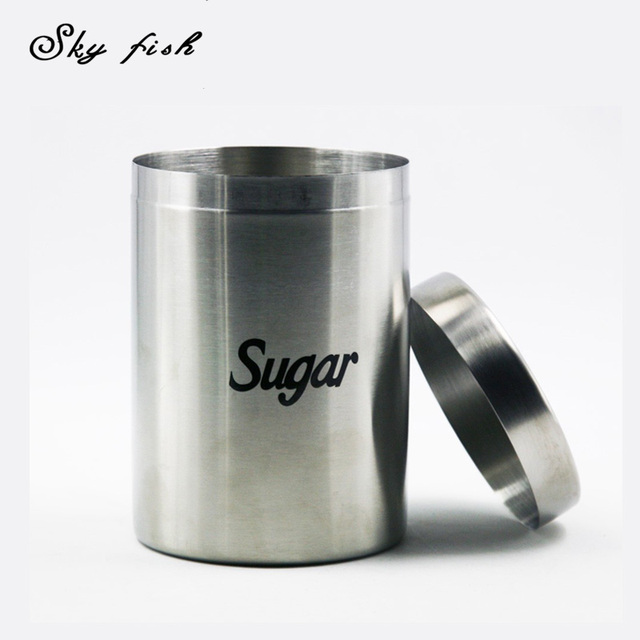 Sky Fish Stainless Steel Sugar Storage Container Seal Pot Food Storage Jar