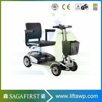 Четырехколесный медицинский скутер для путешествий со старым человеком