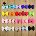 WomensDate 20pcs/lot Solid Grosgrain Ribbon Bow Tie Hair Bow For Girls Kids Children Alligator Clips Baby Ribbon Bow Headband