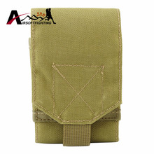 1000D Molle Administrative & Cellphone Pouch Paintball Army Sports Nylon Mobile Phone Pouch Bag Case