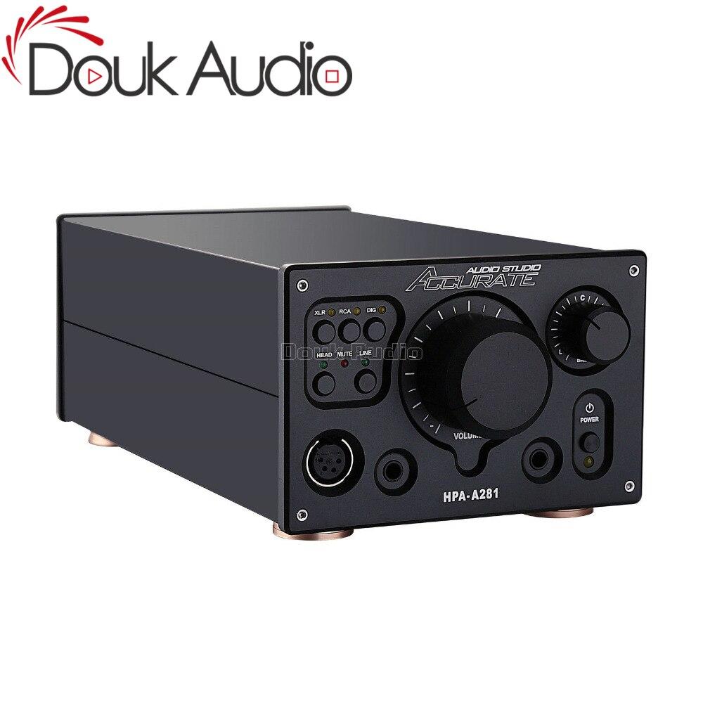 2017 nouveau Douk Adio haut de gamme amplificateur entièrement équilibré numérique XLR/RCA stéréo HiFi Audio préampli référence HPA V281 circuit