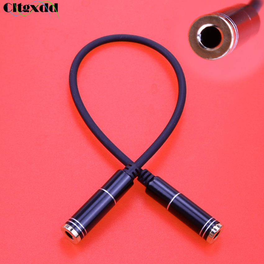 Cltgxdd Audio Extension Line 3.5 Mm 4pole Female To Female Jack Stereo Audio Adapter Connection Phone Headphone Cable