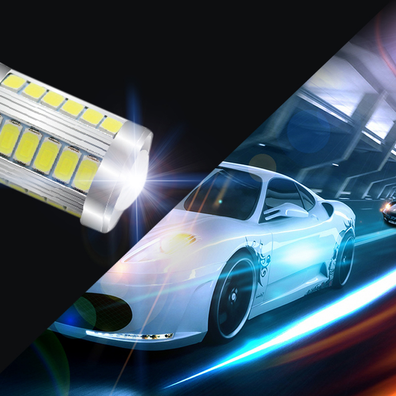 2Pcs/Lot SUNKIA 1156 BA15S P21W 5730 5630 33SMD LED Bulb With Len Car Tail Brake Lights Daytime Running Ligh Auto Reverse Lamp