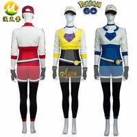 Pocket Monster Cosplay Costumes Pokemon Go Cosplay Costume Trainer Costume For Halloween Costumes Women Adult Party Set