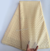 Without Eyelet Holes Both For Men Women 100 Cotton African Swiss Lace Fabric Dry Lace 5