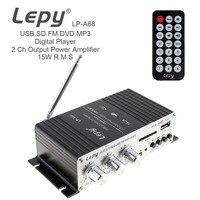 LP A68 DC 12V 15W X 2 2CH HIFI Auto Car Power Amplifier Digital Audio Stereo