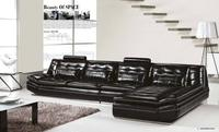 Luxury Italian Top Grain Leather 3 7M Length L Shaped Sofa Set Luxury And Low Price