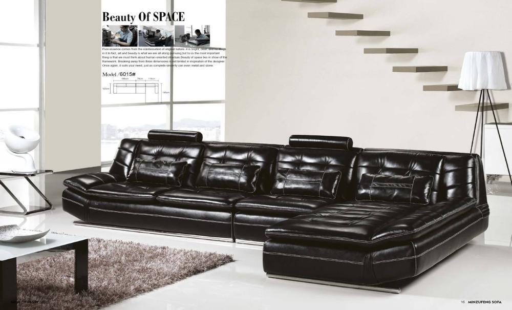Luxury Italian Top Grain Leather,3.7M Length L Shaped Sofa Set,Luxury And