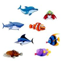 Fashion Home Decor Creative Cute Cartoon Animal Fridge Magnets Fish pattern high quality Acrylic Ref