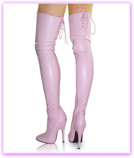 12CM High Height Sex boots Women's Heels  Stiletto Heel  OVER-The-Knee Boots  No.LC-720 20cm high height sex boots pu platform hoof heels over the knee boots no 13667