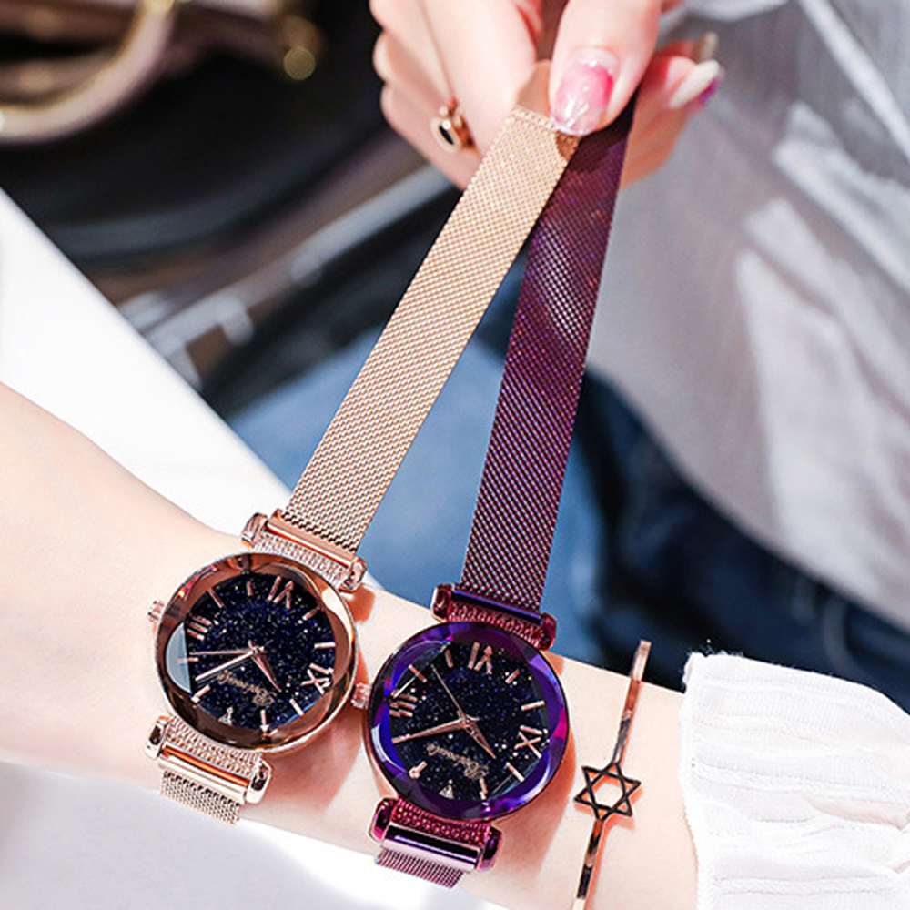 Luxury Women Watches Ladies Rose Gold Watch Starry Sky Magnetic Female Girl Wristwatch Relogio Feminino Reloj Mujer Dropshipping