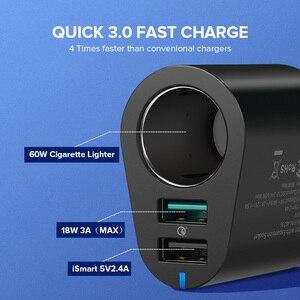 Image 2 - Ugreen Adaptador de cargador de coche, Cargador USB de carga rápida 3,0 Dual, 60W, para iPhone X, 8, Samsung Galaxy S9, S8, LG, V20