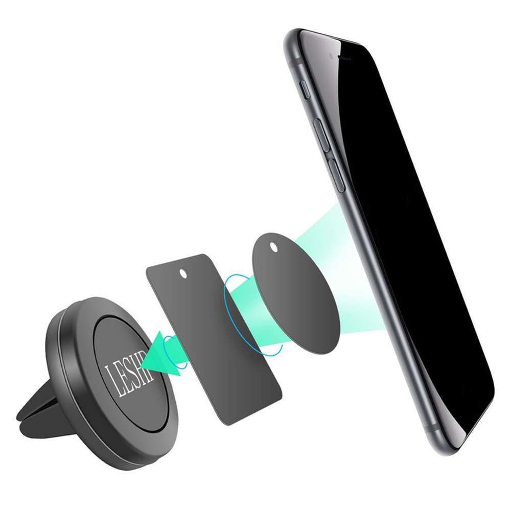 360 Degree Universal Car Magnetic Air Vent Mount Holder Stand for Mobile Cell Phone For iPhone GPS Gift zyz 189 universal 360 degree rotational car mount holder for gps cell phone black