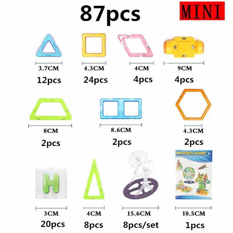 Детские строительные игрушки Мини 59 шт. Магнитный дизайнерский Строительный набор модель и строительные плитки комплект для хранения игрушек пластиковые Развивающие
