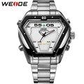 Weide marca Men Quartz assista Sports LED relógios digitais relógio Masculino moda Casual aço inoxidável relógios de pulso à prova d ' água