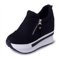 Dropshipping Mulheres Casuais Sapatos de Plataforma de Moda Sapatos de Salto Alto Mulher Cunhas Sapatos Sapatos Altura Crescente zapatos mujer