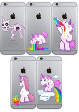 Clear TPU Cute Rainbow font b Unicorn b font Cases Cover For iphone5 5s SE 6