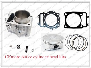 CYLINDER /CYLINDER GASKE / PISTON /PIN/RINGS /CIRCLIP/VALVE for CF625/ Z6/Z6EX /196S CF600 X6 PARTS NO.IS 0600-023100