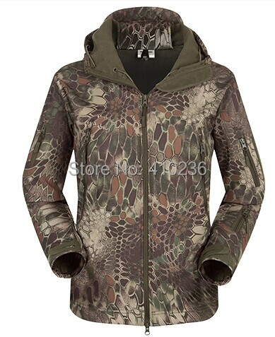 Outdoor Highlander Camouflage Hunting Jacket Men Soft shell Sport Waterproof Windproof Breathable Man Tactical Jackets Clothes