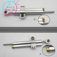 CNC Damper Steering StabilizerLinear Reversed Safety Control Over for z800 z750 yamaha r6 mt07 fz6 r3 ninja 300 mt 09 xj6 Pulsar