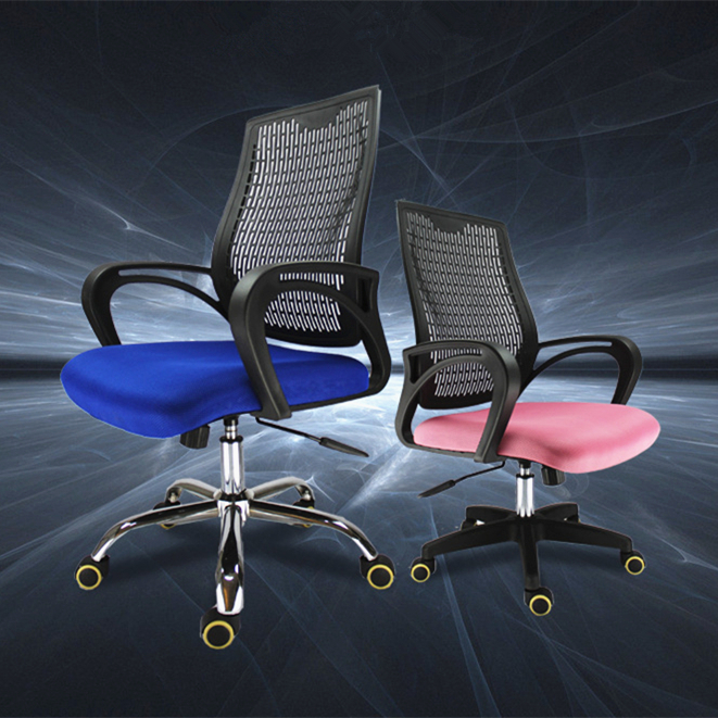 High Quality Fashion Simple Portable Office Chair Breathable Mesh Cloth Computer Swivel Chair Lifting Leisure Gaming Chair