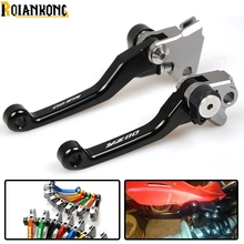 LOGO YZ80 dirt bike Pivot Brake Clutch Levers foldable motorbike brake For YAMAHA YZ80/85 85 2001-2016 YZ 80 2016