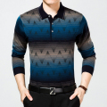 2016 Hot Sale Men's British Fashion Men's Casual Slim Long Sleeved Men Polo Shirt Turn-down Collar Mens Polo Shirts Plus size