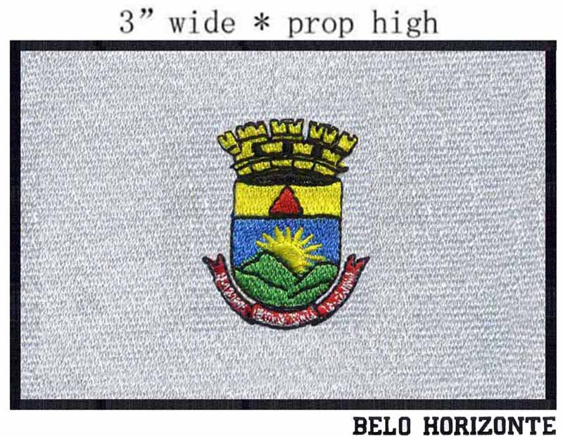 Bright 3 Wide Belo Horizonte,brazil Flag Embroidery Patch For Biker Vest/custom Letterman Jackets/champions League Patch Patches Home & Garden