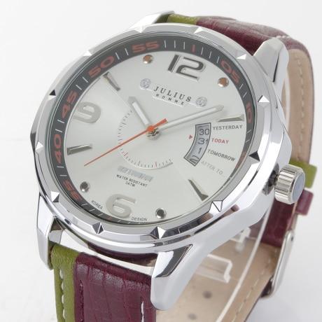 Watches Men Luxury Brand Julius Fashion  Men's Quartz Hour Analog Display Clock Sports Watch Male Army Military Wrist Watch | Fotoflaco.net