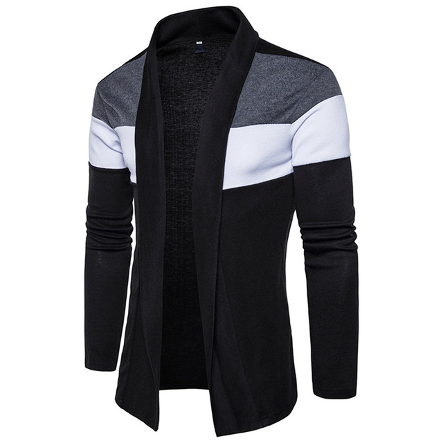 Elegant Men Party Sweater Fitness Sportswear Casual Tops Hip Hop Patchwork  Mens Sweaters Novelty Cardigan Sweater