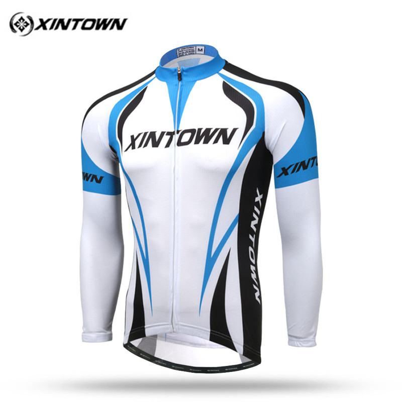 Xintown Autumn Men Long Sleeve Cycling Jersey Pro Team MTB Bike Jersey Racing Sport Cycling Clothing Riding Bicycle Wear Clothes