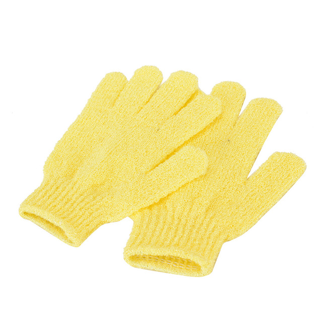 1 Pair Shower Bath Gloves Exfoliating Wash Skin Spa Massage Body Scrubber Cleaner Bathing Cleaning Products Random Color 4