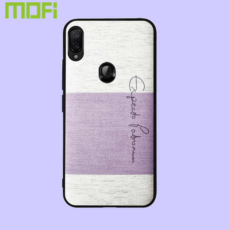 For Xiaomi Redmi Note 7 Pro Case Mofi For Xiaomi Redmi Note 7 Case Back Cover Sponge Cotton Cloth Soft Redmi Note 7 Purple Pink in Fitted Cases from Cellphones Telecommunications