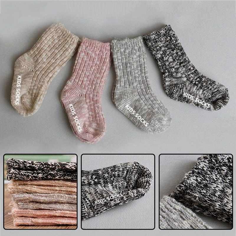 2018 새로운 antiskid 양말 가을과 겨울 양모 원사 두꺼운 양말 아기 anti slip cotton socks for baby