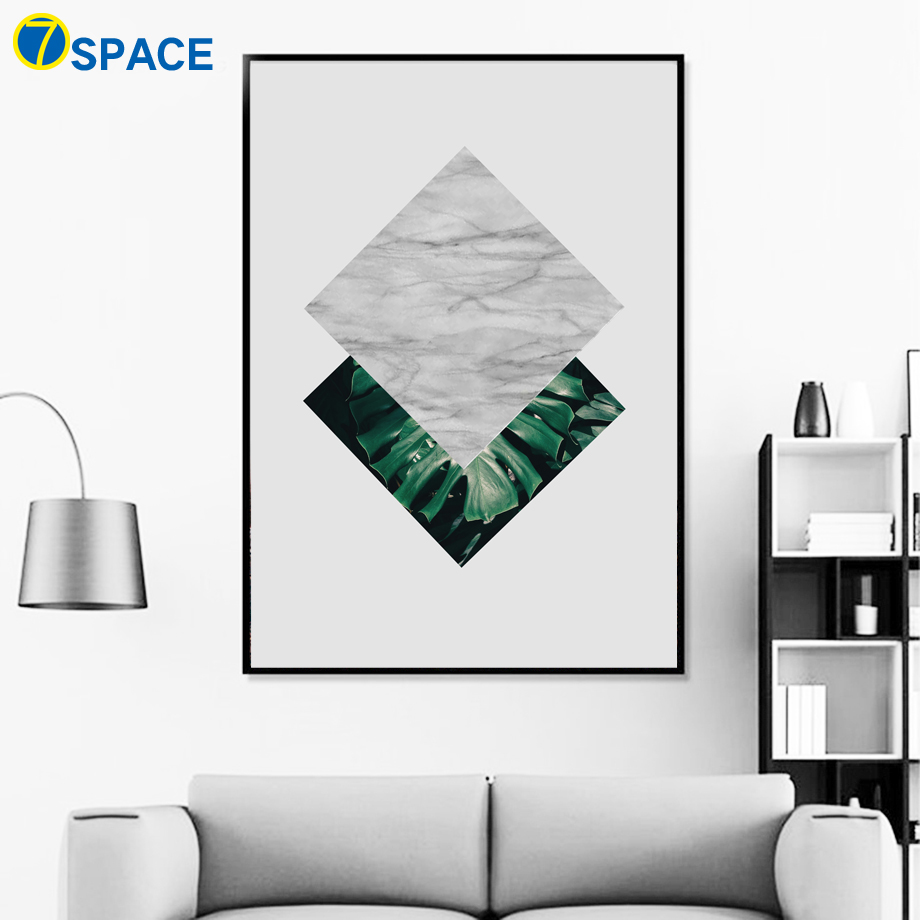 Geometry Marble Leaves Landscape Posters And Prints Wall Art Canvas Painting Nordic Poster Wall Pictures For Living Room Decor in Painting Calligraphy from Home Garden